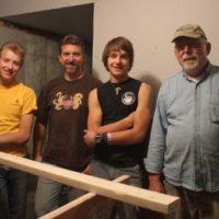 The crew (LtoR): Isaiah, me, Micah and my dad, Bernie.