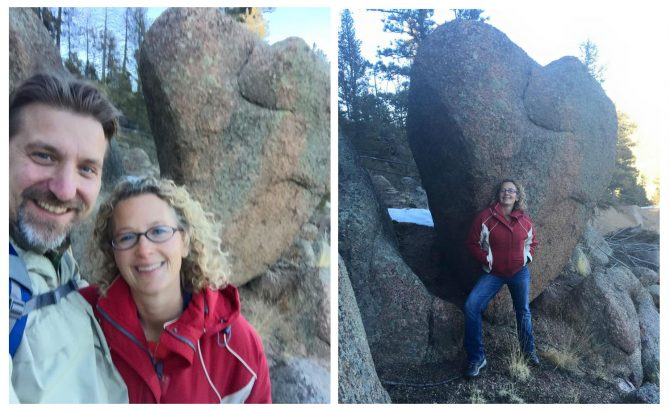 "Our ""heart rock,"" discovered in Pike National Forest 2015."