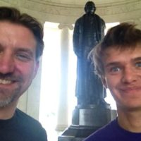 Jefferson Memorial with Micah.