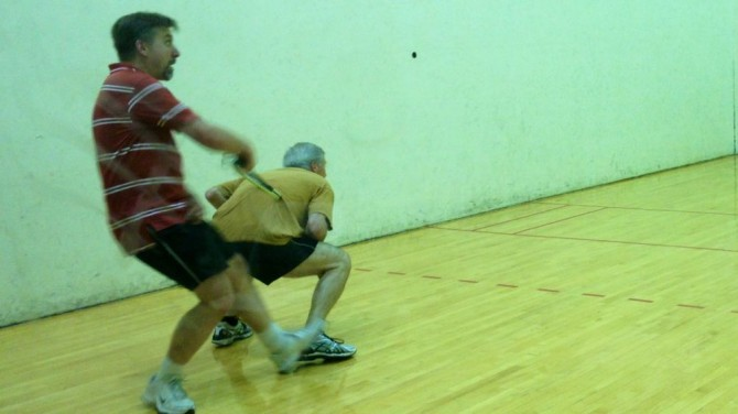 Raquetball With Scott