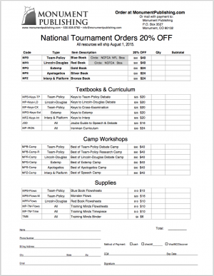 Not at nationals? Download the order form anyway and take advantage of the 20% off.